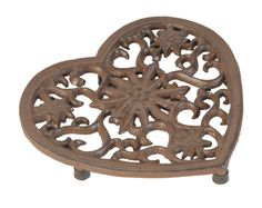 Crafted from cast iron, create a centrepiece on your kitchen or dining table with this trivet, featuring a heart and floral design. Alternatively use to prot. Robert Welch, Slate Coasters, My Dream Came True, Home Additions, Hammered Copper, E Design, Floral Design, Mosaic Glass, Cast Iron