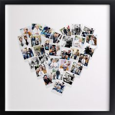 Minted Heart Snapshot Mix Photo Art - seems easy enough to DIY! Cadre Photo Diy, Heart Collage, Heart Shaped Photo Collage, Collage Art, Diy Foto, Photos Originales, Mix Photo, Foto Baby, Photo Heart