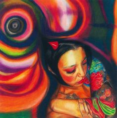 """Prismacolor drawing  - """"spiraling"""" realism #prismacolor #drawing #colorpencil art #spirals"""