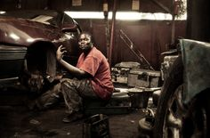 Worker at Femme Auto