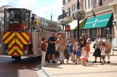 Carmel Fire Department letting the kids explore the ladder truck! - Carmel, Indiana - Money Magazine's #1 Best Place to Live 2012!