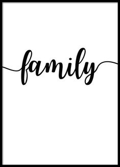 Family Poster in the group Prints / Typography & quotes at Desenio AB Poster 40x50, Buy Posters Online, Family Poster, Typography Prints, Typography Quotes, Family First, Instagram Highlight Icons, Word Families, Inspiration Wall