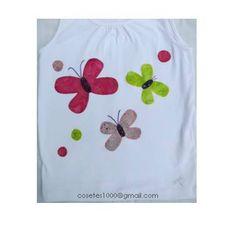 Camiseta de papallones - Buterfly - T-shirt - Applique