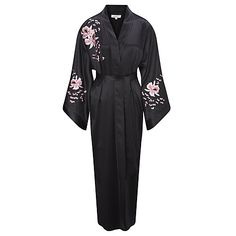Somerset by Alice Temperley Embroidered Orchid Kimono Silk Robe df58b999df5e4