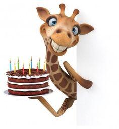 Funny Cartoon Drawings, Funny Cartoon Characters, Cartoon Cartoon, Cartoon Illustrations, Funny Giraffe, Giraffe Art, Cute Giraffe, Happy Birthday Wishes Cards, Happy Birthday Images