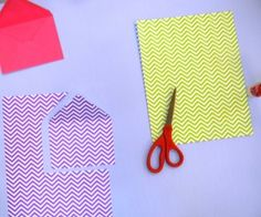 DIY Envelope Liners..pair with heart envelopes