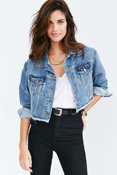 Lil Miss JB Style Finds: BDG Raw Edge Denim Trucker Jacket size med