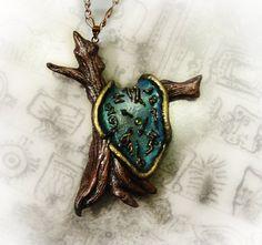 Melting Clock (Dali) Necklace