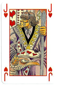 – Jack of hearts Martin Mystere deck Jacob Bible, Jack Of Hearts, Heart Cards, Cool Designs, Playing Cards, Decks, Poker, Fun, Card Games