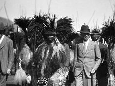 Paramount Chief Sobhuza and British Resident Commissioner at incwala, Lobamba African Royalty, King Queen, Old And New, Roots, Queens, Southern, British, History, Africa