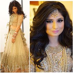 5 Simple but Truly Stunning Hairstyle for Indian Wedding- As one of the happiest moments in one's life, wedding always becomes a special moment where everyone wants to get a perfect look without a mistake. Desi Wedding, Wedding Attire, Wedding Dress, Bridal Outfits, Bridal Dresses, Indian Dresses, Indian Outfits, Indian Wedding Hairstyles, Engagement Hairstyles