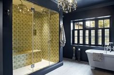 Bathroom Tile Ideas To Inspire You. More bathroom decor ideas at http://www.brabbu.com/en/inspiration-and-ideas/category/interior-design/bathroom