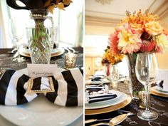 striped wedding decor | Prints Wedding Theme-Black and White Striped Wedding |