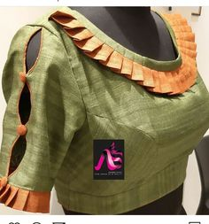 Best Picture For blouse designs casual For Your Taste You are looking for something, and it is going New Saree Blouse Designs, Blouse Designs Catalogue, Simple Blouse Designs, Stylish Blouse Design, Sari Design, Sleeves Designs For Dresses, Sleeve Designs, Designer Kurtis, Designer Blouse Patterns
