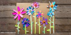 Collage paper flowers project for kids Projects For Kids, Art Projects, Crafts For Kids, Arts And Crafts, Group Projects, Make Your Own Collage, Flower Collage, Alphabet Crafts, Mothers Day Crafts