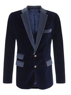 Men's Wedding Grooms Tuxedo Dinner Casual Blue Velvet New Blazer Coat Jacket