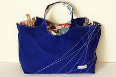 The Big Tote Bag PDF Sewing Pattern The Big Tote Bag is one handy bag! It's big enough to use for the beach, gym, library books, knitting or carrying groceries. It makes your fabric the focal point as the straps and body are cut in one piece. The bag can be reversible, or add an …