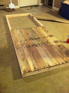 Sliding barn door from reclaimed pallet wood - we could make a door ....if we never found one