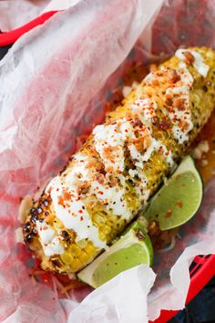Loaded Mexican Street Corn is the perfect side grilling recipe you need this summer! Healthy Side Dishes, Side Dishes Easy, Side Dish Recipes, Veggie Recipes, Main Dishes, Vegetarian Recipes, Dinner Recipes, Cheetos, Yuca Al Mojo