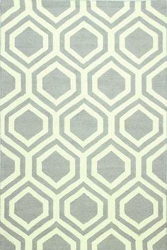 Mizel Hand-Tufted Gray Area Rug