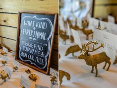 For a woodland theme, spray-paint animal figurines and assign each guest to a different spirit animal of choice.