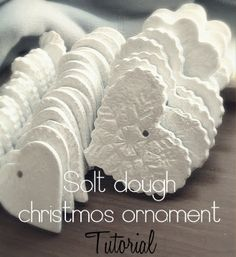 Salt Dough Christmas Salt Dough Christmas Ornament Tutorial We have made these for many years. My cookie cutters get used a lot for this. also can make a cinnamon dough too that is awesome! Christmas Projects, Holiday Crafts, Holiday Fun, Christmas Ideas, Noel Christmas, All Things Christmas, Christmas Quotes, Salt Dough Christmas Ornaments, Diy Valentine's Ornaments