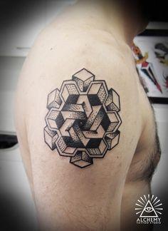 Geometric Shape Tattoo tattooideaslive.com #geometric #tattoo