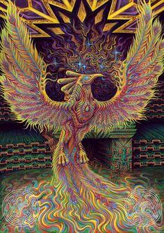 "psyhaven: ""The God Of Dreams by Torus Energy Artworks "" Lucid Dream, God Of Dreams, Psychadelic Art, Psy Art, Mystique, Visionary Art, Sacred Art, Fractal Art, Fantasy Creatures"
