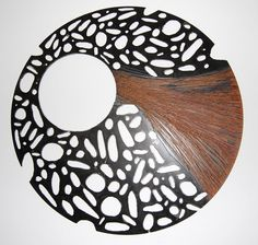 metal wall art abstract metal sculpture round by NayaStudio