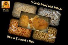 Bread with Walnuts - Pane ai 5 cereali con Noci Your Recipe, Rye, Mondays, Grains, Yummy Food, Bread, Baking, Future, Sweet