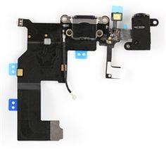Lightning Dock/Headphone Jack Connector Flex cable for iPhone 5 (black)