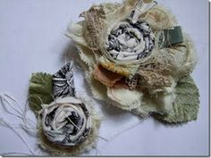 Shabby Fabric Flower by Roben-Marie Smith