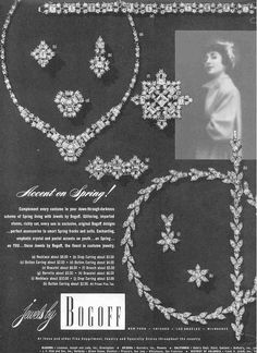 1951 Bogoff jewelry ad 'Accent on Spring'
