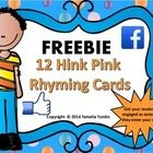 FREE!  Hink Pink Challenge!   What are Hink Pinks? Hink Pinks are two one syllable words that rhyme. Students will read the clue on the task card and com...