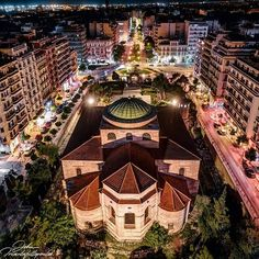 """Thessaloniki Travel on Instagram: """"In case you're wondering what Ermou street looks like from a bird's eye view... Happy Saturday from the top of Hagia Sophia church ,one of…"""" Hagia Sophia, Thessaloniki, Street Look, Birds Eye View, Macedonia, Happy Saturday, Greece, Mansions, Country"""