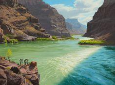 Painter's Paradise by Dennis Farris Oil ~ 18 x 24