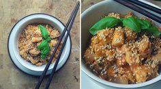 Low Carb Rezept für eine leckere Asia-Putenpfanne mit Sesam. Wenig Kohlenhydrate und einfach zum Nachkochen. Super für Diät/zum Abnehmen.