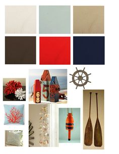 Rustic Nautical Pallete -- maybe for den -- brown is close to  our couch