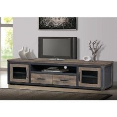 Amazon.com: Vintage Rustic TV Entertainment Center Media Console: Kitchen & Dining