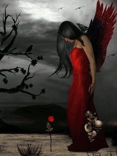 Discover & share this Gothic GIF with everyone you know. GIPHY is how you search, share, discover, and create GIFs. Photo Zen, Photo D Art, Dark Gothic Art, Gothic Fantasy Art, Gifs, Fairy Wallpaper, Wings Wallpaper, Gothic Angel, Arte Obscura