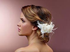 Haarclip - Minifascinator mit Rosenblüte von Poirier
