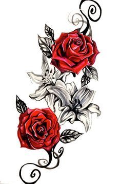 drawing realistic skin Vintage Red Rose Realistic Temporary Tattoo - Enjoy this Vintage Red Rose Tattoo. Easy to Apply Beautiful Body Art WEAR THEM EVERYWHERE ✔ The Beach ✔ The Pool ✔ Music Festivals ✔ Parties ✔ Concerts ✔ Birthday Parties Rosen Tattoo Frau, Rosen Tattoos, Rose Vine Tattoos, Flower Tattoos, Rose Tattoo Ideas, 3 Roses Tattoo, Tribal Rose Tattoos, Bouquet Tattoo, Blue Rose Tattoos