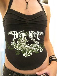 Dragonforce T Shirt into Halter Top - CLOTHING