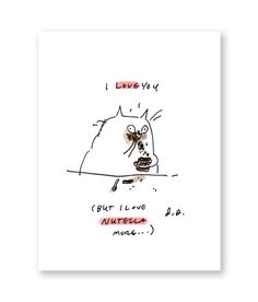 Nutella Cat  Cat Card  Valentines Card  Funny by jamieshelman