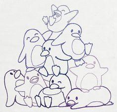 Pile o' Cute - Penguin Pile design (UT10467) from UrbanThreads.com