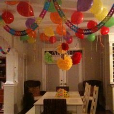 Red, Blue Yellow Party Decorations