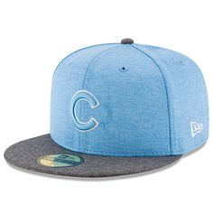 Men's Chicago Cubs New Era Heather Blue Father's Day 59FIFTY Fitted Hat