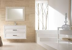 Eban Abate Ceramiche Italian Bathroom, Classic Italian, Floating Nightstand, Alcove, Gallerie, Bathtub, Vanity, Wood, Table
