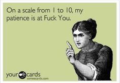On a scale from 1 to 10...