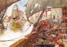 Batalla naval de Tolón o Cabo Sicié , 1744, de Pierre Joubert. Más en www.elgrancapitan.org/foro
